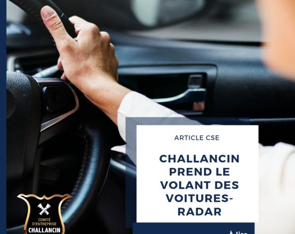 Challancin prend le volant des voitures-radar