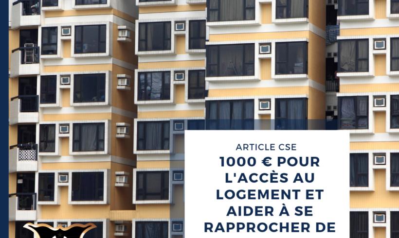FACILITER L'ACCÈS AU LOGEMENT ET LE RAPPROCHEMENT DOMICILE-TRAVAIL.